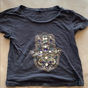 Truly Madly Deeply crop jeweled top
